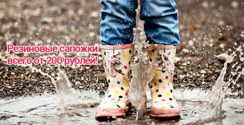 Новинки резиновой обуви уже в каталоге!